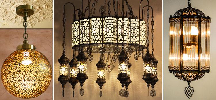 Настенные и потолочные светильники в хамам