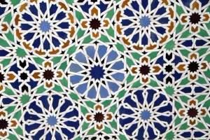 Марокканская глиняная мозаика