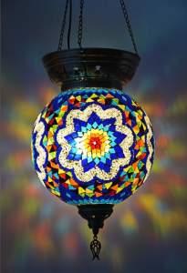 Мозаичный подвесной светильник шар