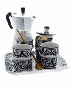 Декор посуды в восточном марокканском стиле