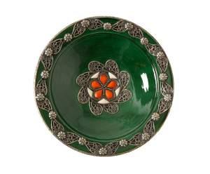 Марокканская керамическая тарелка