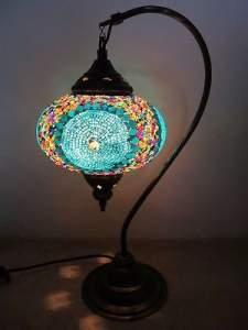 Восточная мозаичная лампа из Турции фото МАРОКДЕКОР
