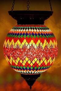 Светильник мозаичный подвесной арт.НМ-020