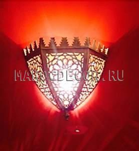 Марокканский светильник настенный Арт.50, из латуни влагозащищенный