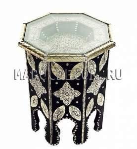 СМарокканский кофейный cтолик арт.TB-25, шоу рум восточной мебели