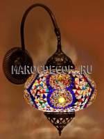 Мозаичный светильник в восточном стиле арт. WM-022T