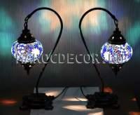восточная настольная лампа с мозаичным плафоном