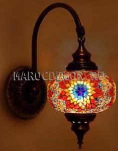 Восточный настенный мозаичный светильник  арт. WM-015T/3