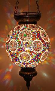 Мозаичный подвесной светильник арт. НМ-025/1