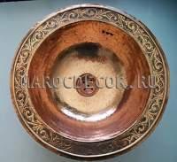Марокканская медная раковина арт.СU-02