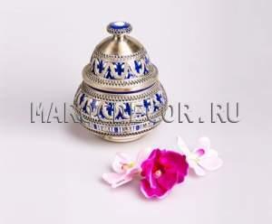 Марокканская ваза  арт. VR-04, керамика, чеканка ,роспись ручной работы, восточный стиль