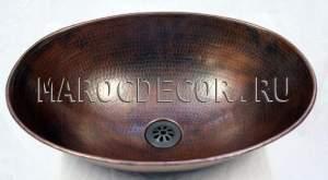 Марокканская медная раковина арт.СU-04, цвет бронза