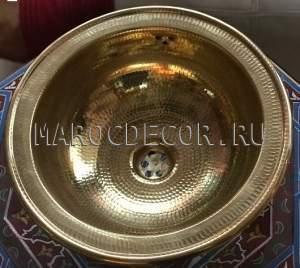 Марокканская медная раковина арт.СU-06, Марокдекор