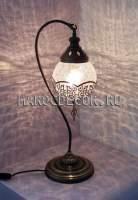 Восточная лампа настольная арт.Т-183/15, турецкий стиль, стеклянный плафон ,ажурный декор
