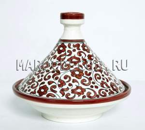 Марокканский тажин из керамики арт.TJ-02, Марокко