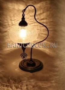 Восточная лампа настольная арт.FC-022L,стеклянный плафон, Турция