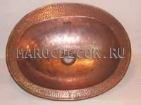 Марокканская медная раковина арт.СU-07, чеканка