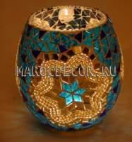 Турецкий мозаичный подсвечник арт.BG-36