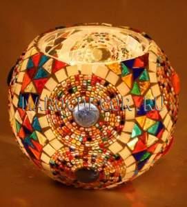 Турецкий мозаичный подсвечник арт. BG-35