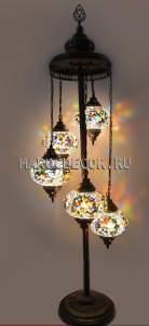 Восточная мозаичная лампа-торшер арт.FM-012/5а
