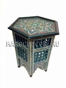 Восточный столик с резьбой и росписью  арт.TB-215