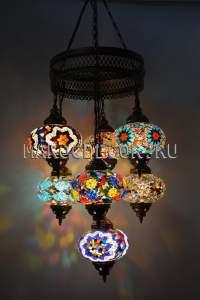 Восточная мозаичная люстра арт.CM-012/9d