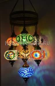 Восточная люстра мозаичная арт.CM-012/9в