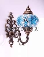 Восточный мозаичный светильник арт. WM-015TК,бра , плафон 1, цвет-бело-голубой