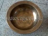 Марокканская круглая раковина арт.СU-12, чеканка ручной работы