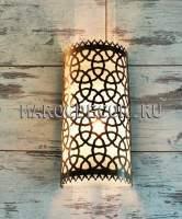 Cветильник настенный в восточном стиле для хамама, латунный, влагозащищенный арт.WY-115/30