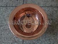 Марокканская круглая раковина арт.СU-14, чеканка ручной работы