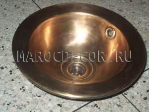 Марокканская круглая раковина арт.СU-13, ручная работа