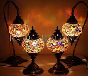 Настольная мозаичная лампа в восточном стиле арт. ТМ-012TL