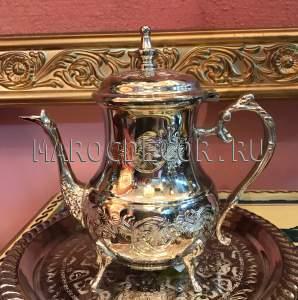 Восточный чайник арт. -20 цвет -серебро