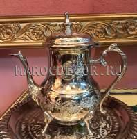 Марокканский чайник арт.TR-20, цвет -серебро