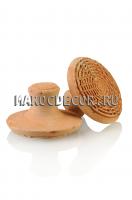Пилинговый камень для ног из натуральной глины арт. PUMZA-01, Марокко,ручная работа