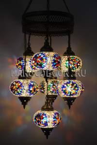 Восточная люстра мозаичная арт.CM-012/9y