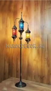 Восточная напольная лампа торшер арт. L-113C-10-3