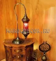 Восточная настольная лампа в османском стиле арт.TY-112-2B-DB-8 цвет плафона красный