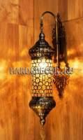 Восточный светильник со стелянным плафоном подходит для хамама