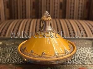 Марокканский декоративный тажин арт. TJ-26, ручная работа
