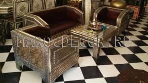 Комплект:диван с креслами в марокканском стиле арт.