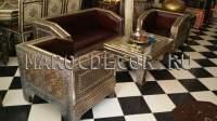 Комплект: диван с креслами в марокканском стиле арт. FES