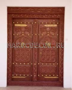 Резная марокканская дверь арт.MD-34