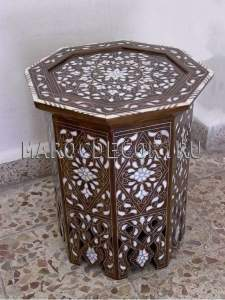Столик в восточном стиле с перламутром  арт.TB-98-A