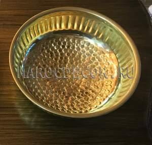 Медная чаша для омовения арт.CR-05, для хамама