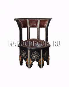 Марокканское кожаное кресло-стул арт.SH-30
