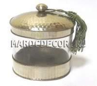 Баночка для ватных дисков в марокканском стиле арт.НМ-09
