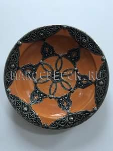 Марокканская декоративная тарелка арт.AS-69
