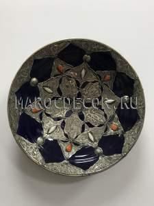 Марокканская декоративная тарелка арт.AS-67, ручная работа